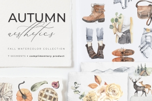 Autumn Aesthetics Lifestyle Watercolor Collection