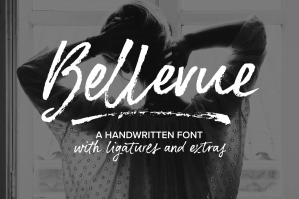 Bellevue Brush Font & Extras