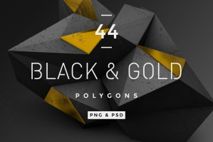 Black And Gold Polygons