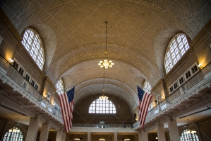 Ceiling Of Registry Room In Ellis Island Immigration Centre