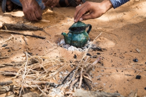 Close Up Of Hands Making Traditional Sahrawi Tea No. 2
