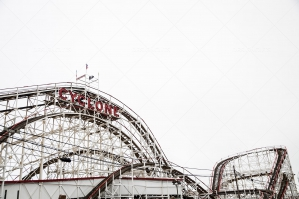 Colourful Rollercoaster In Coney Island's Luna Park No. 10