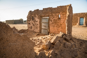 Damaged Building In The Sahara Desert No. 1