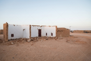 Damaged Building In The Sahara Desert