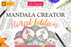 Floral Mandala Vector Pattern Creator For Illustrator
