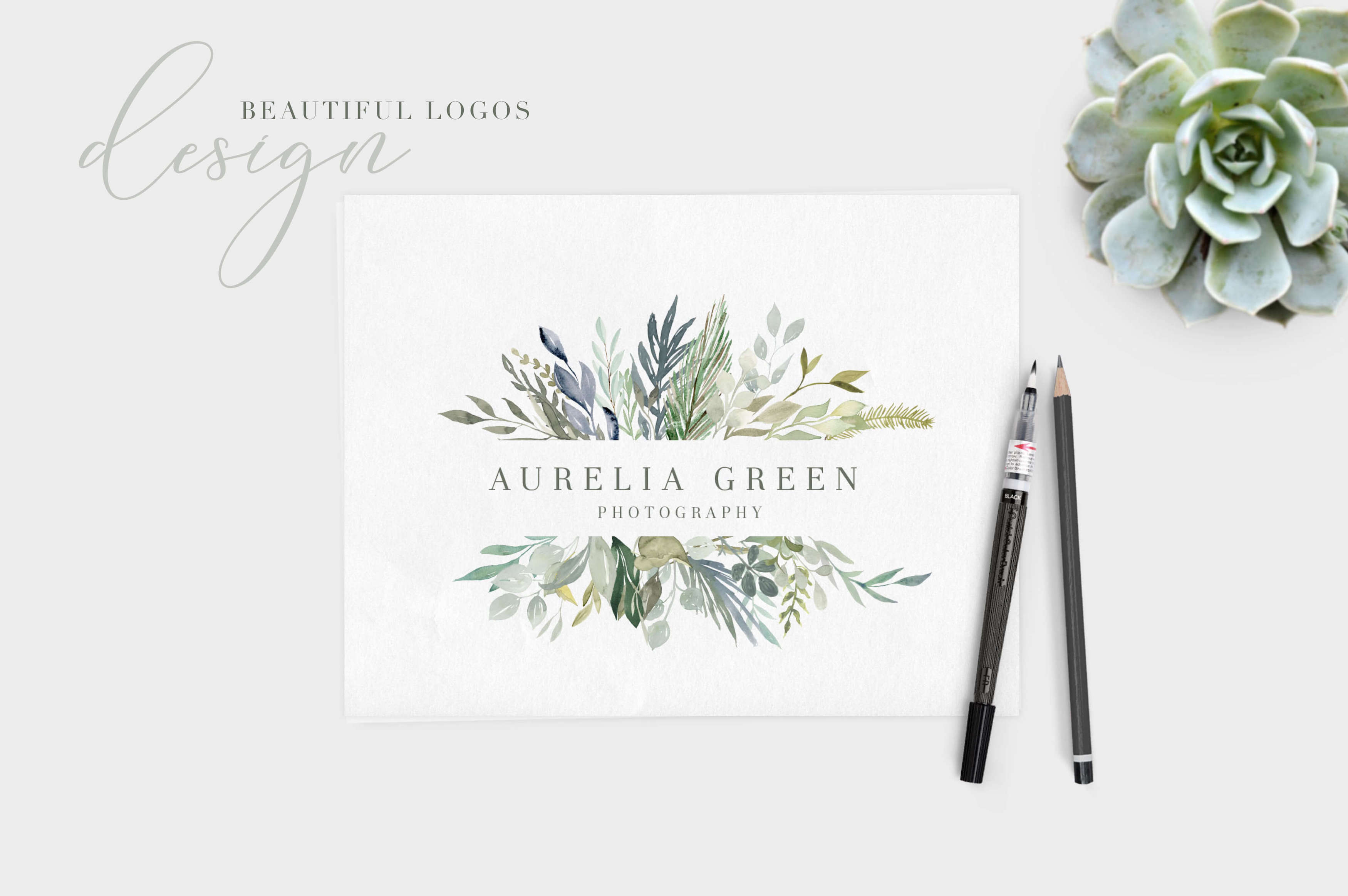 Foliage - Hand Painted Watercolor Leaves
