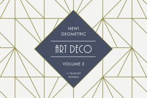 Geometric Art Deco Patterns V3