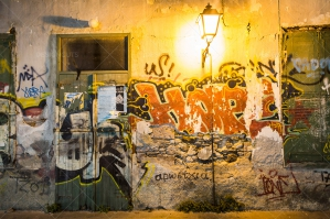 Graffiti Under The Streetlights At Night No. 1
