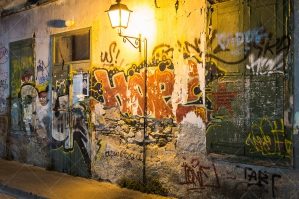 Graffiti Under The Streetlights At Night No. 2