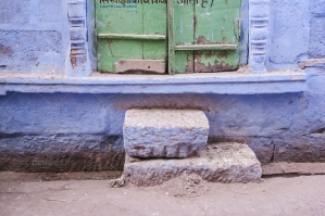 Hindi Writing On A Doorway In Jodhpur