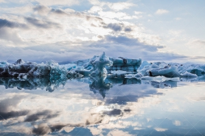 Icebergs Floating At The Mouth Of Jökulsárlón Glacier Lagoon No. 3