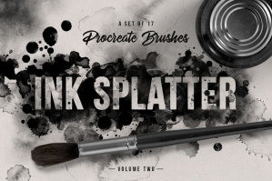 Ink Splatter Vol. 2 Procreate Brushes