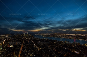 Manhattan Skyline From The Empire State Building New York At Sunset No. 6
