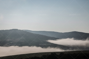 Mist Clearing In The Valleys Around Hollókő In Hungary No. 3