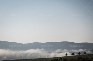 Mist Clearing Above The Hills Around Hollókő In Hungary No. 2