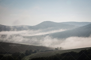 Mist Clearing In The Valleys Around Hollókő In Hungary No. 6