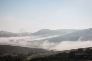 Mist Clearing In The Valleys Around Hollókő In Hungary No. 7