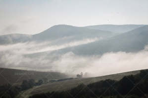 Mist Clearing In The Valleys Around Hollókő In Hungary No. 8