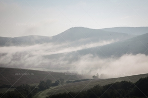 Mist Clearing In The Valleys Around Hollókő In Hungary No. 9