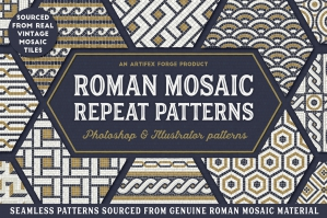 Roman Mosaic Repeat Patterns