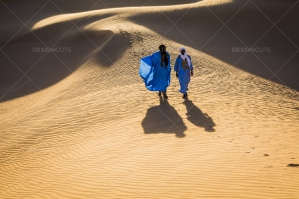Sahrawi Nomad Walk Along A Sand Dune In The Sahara Desert No. 12