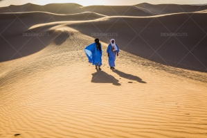 Sahrawi Nomad Walks Along A Sand Dune In The Sahara Desert No. 16