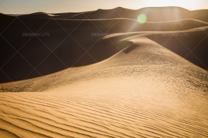 Sand Dunes In The Sahara Desert At Dusk No. 2