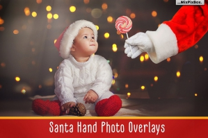 Santa Hand Photo Overlays