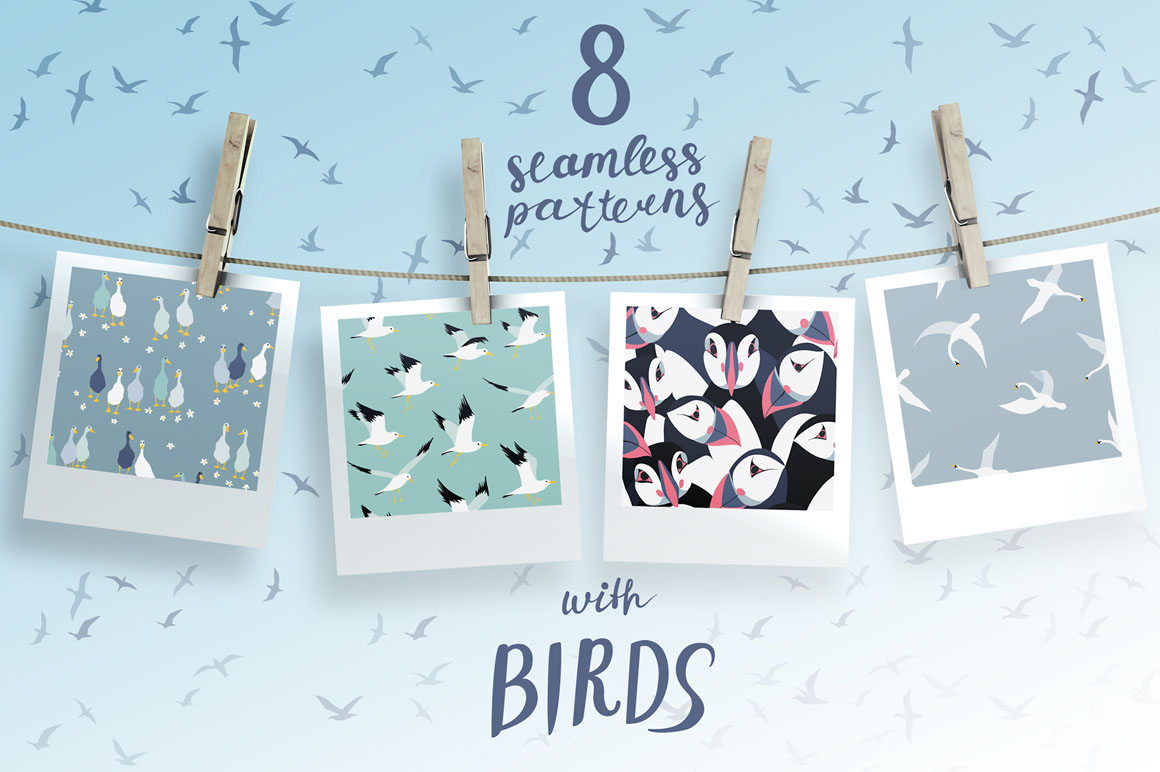 Seamless Patterns with Birds