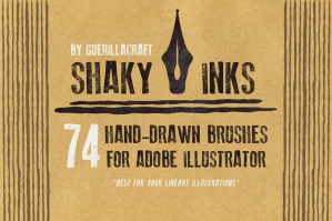 Shaky Inks - Brushes for Adobe Illustrator