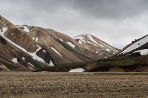 Snow On The Hills Of Landmannalaugar No.1
