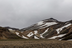 Snow On The Hills Of Landmannalaugar No.2