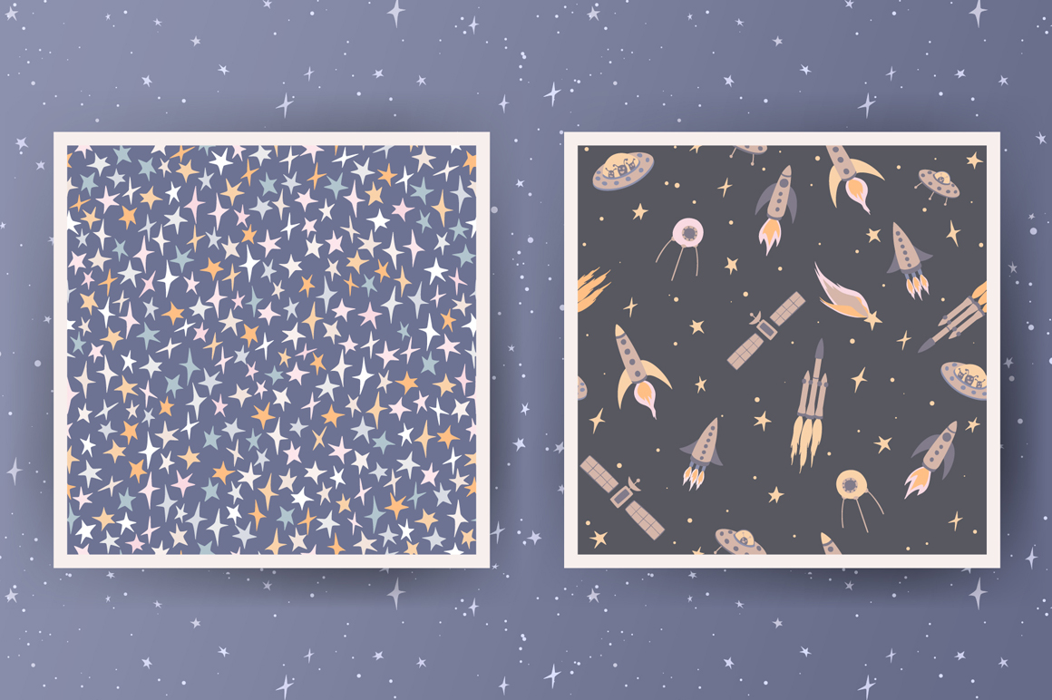 Space Seamless Patterns