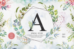 Spring Story Watercolor Set