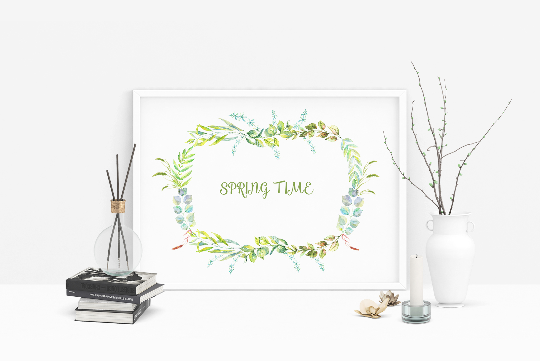 Spring Story. Watercolor set.