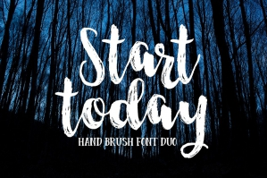 Start Today Brush Font Duo