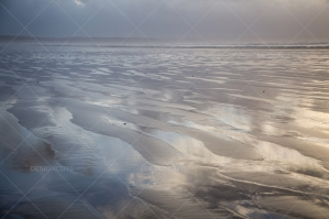 Sunlight Reflections On The Beach At Saunton Sands, Devon No. 4