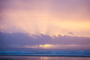 Sunset Over The Beach At Saunton Sands, Devon No. 4