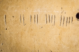 Tally Marks On A Wall In Tuol Sleng Prison Museum
