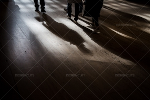The Shadows Of Commuters On The Floor At Grand Central Station No. 1