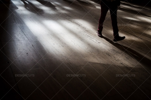 The Shadows Of Commuters On The Floor At Grand Central Station No. 2