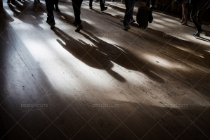 The Shadows Of Commuters On The Floor At Grand Central Station No. 3