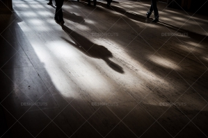 The Shadows Of Commuters On The Floor At Grand Central Station No. 5