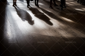 The Shadows Of Commuters On The Floor At Grand Central Station No. 6