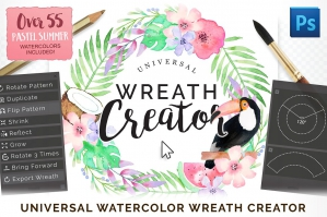Universal Wreath Creator Addon For Photoshop