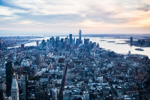 View Of Manhattan Skyline From The Empire State Building, New York