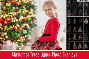 Christmas Trees Lights Overlays