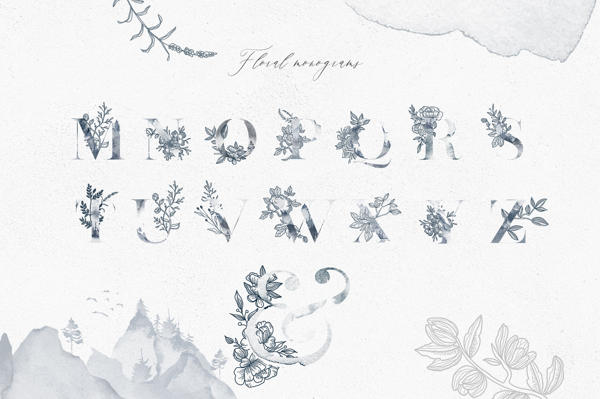 Forest Breath. Enchanted Graphic Set