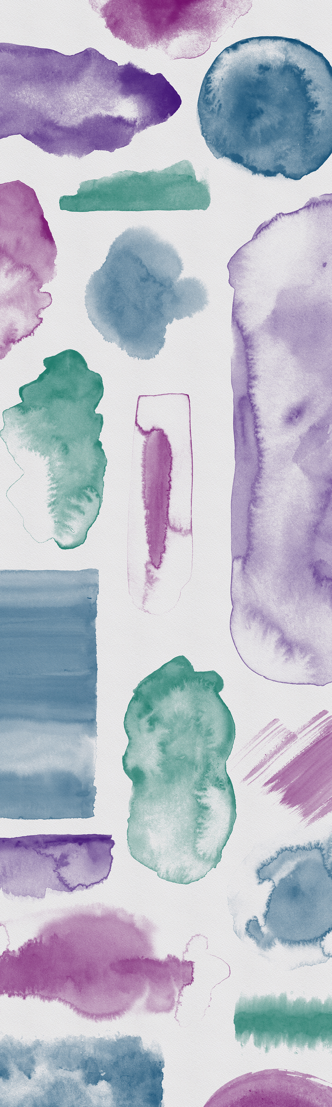 102 Watercolor Stamps For Procreate