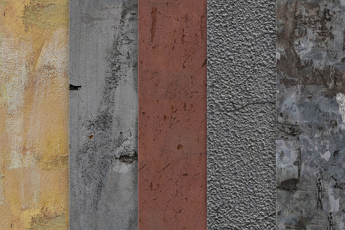 30 Old Walls Seamless Textures